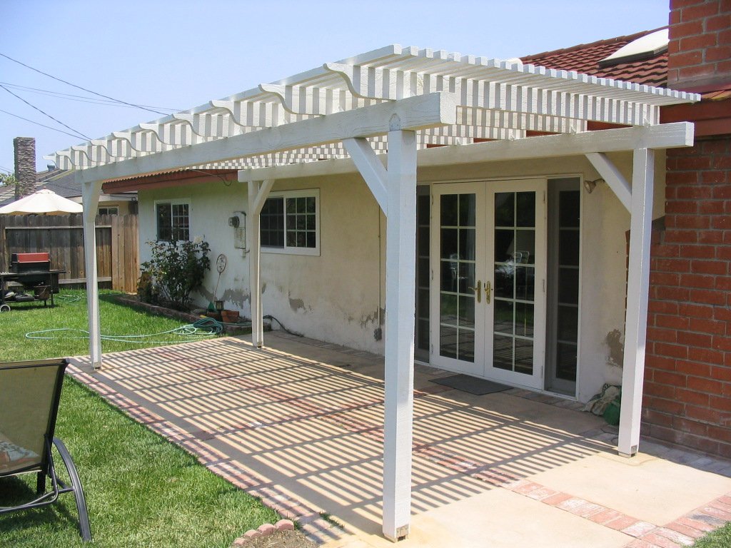 Free Patio Cover Plans 6 Free Standing Patio Cover Plans By Woodsshop Picture